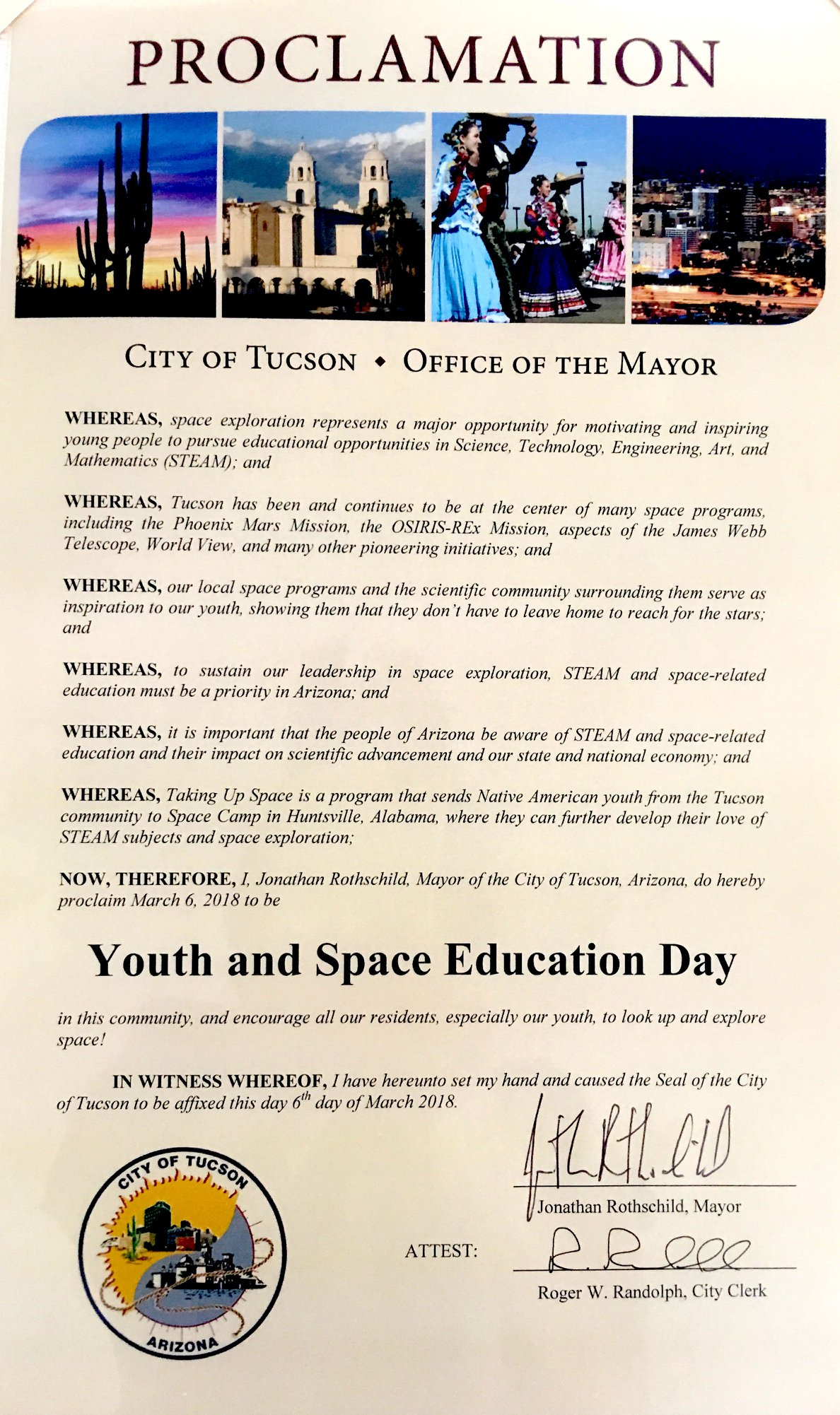 Mayor's Proclamation